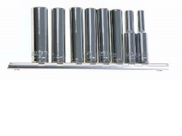 9pc 1/4 Deep Socket Set S.a.e.\