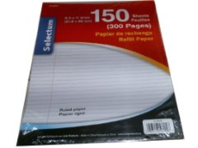 150 Sheet Ruled Refill Paper