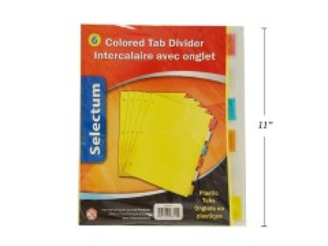 5 PK CLEAR INDEX DIVIDERS WITH TABS LETTER SIZE