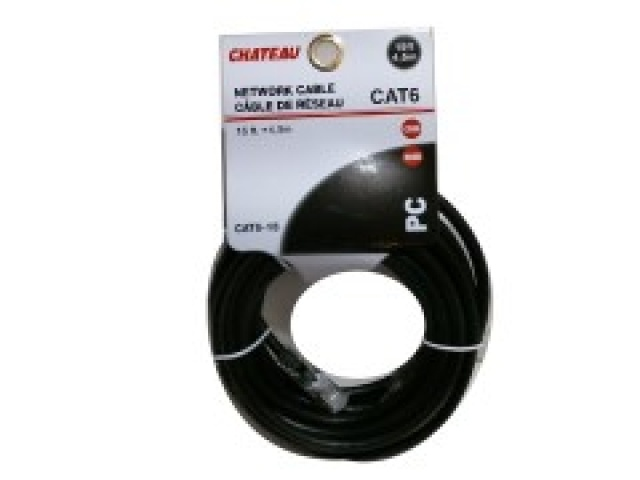 Cat 6 network cable 15 foot 4.5m Assorted colours and quality