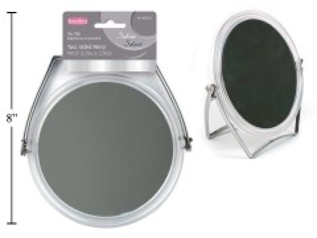 BODICO, 2-SIDED METAL STAND MIRROR,H/C