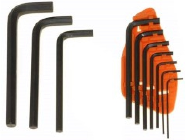 10 Pc Hex Key Metric Chrome-vanadium