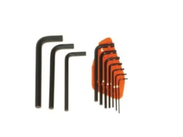 10 Pc Hex Key Sae Chrome-vanadium